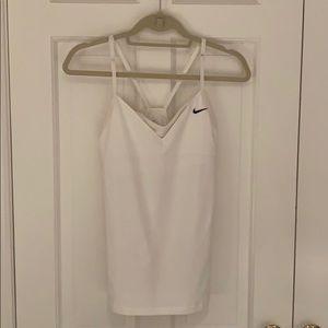 Nike women's white Dri-Fit cotton & mesh tank top
